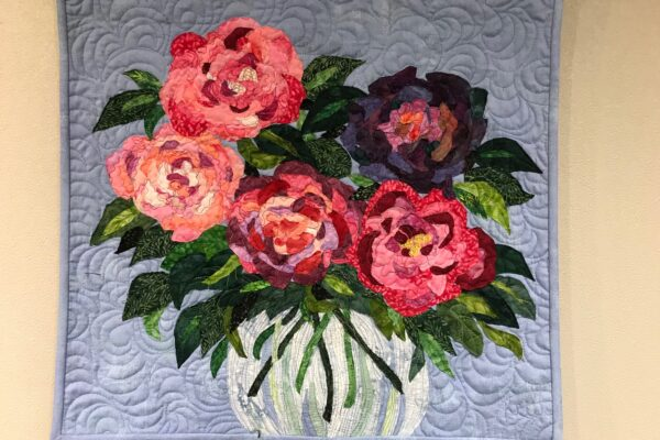 Roses in Clear Vase NFS